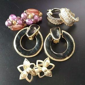 🔥5/$15 vintage clip earrings lot